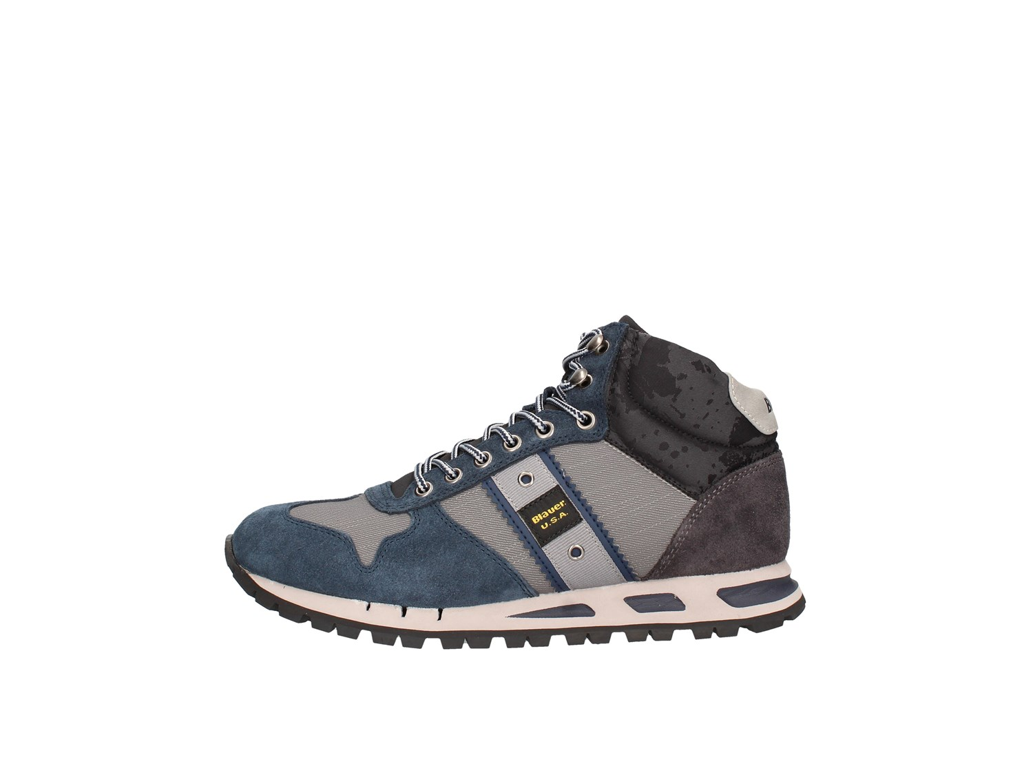 Blauer. U.s.a. 9fmustang02/cam Grey Shoes Man Sneakers