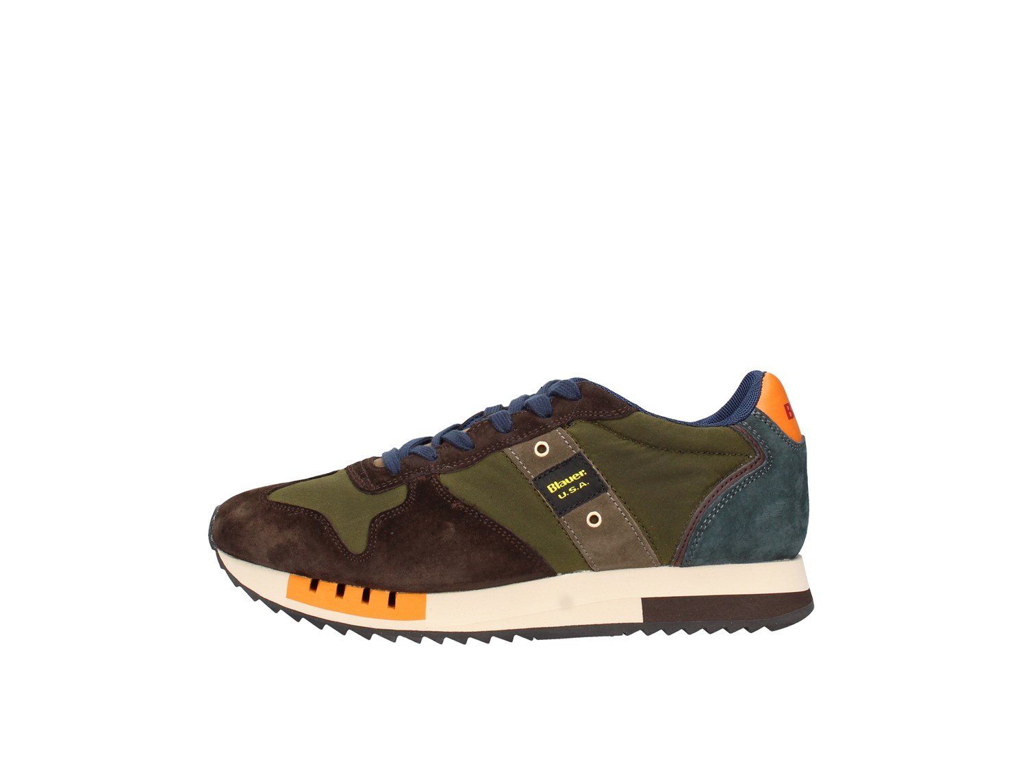 Blauer. U.s.a. F0queens01/wax T.moro / green Shoes Man Sneakers