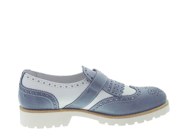Nero Giardini 15176 Blue / White Shoes Women Francesina