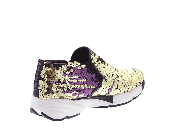 Uma Parker 708/4 Gold Shoes Women Slip-on