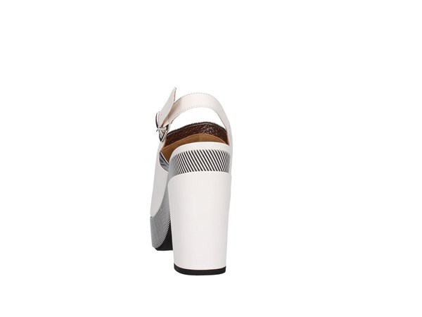 Lazzari Felici 2729 White / Silver Shoes Women Sandal