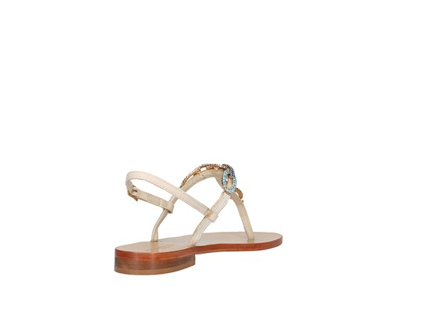 Roberta Lopes 1009 Beige / Turquoise Shoes Women Flops