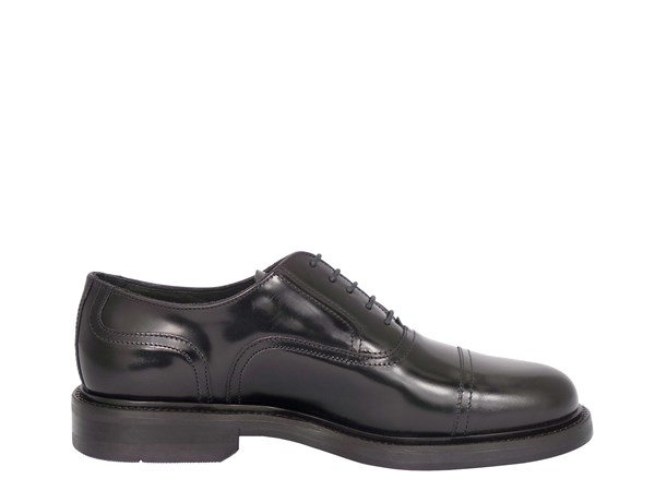Soldini 12528-l-091 Black Shoes Man Francesina
