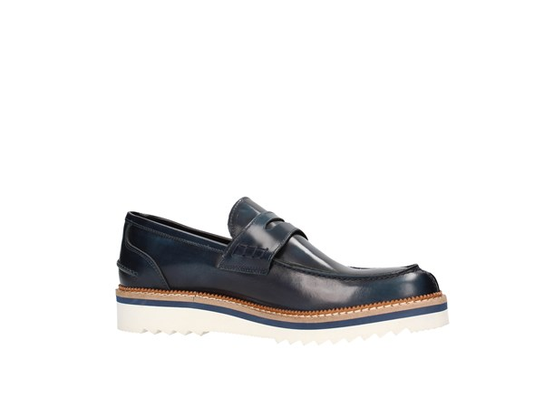 Gian Vargian 805 Blue Shoes Man Moccasin