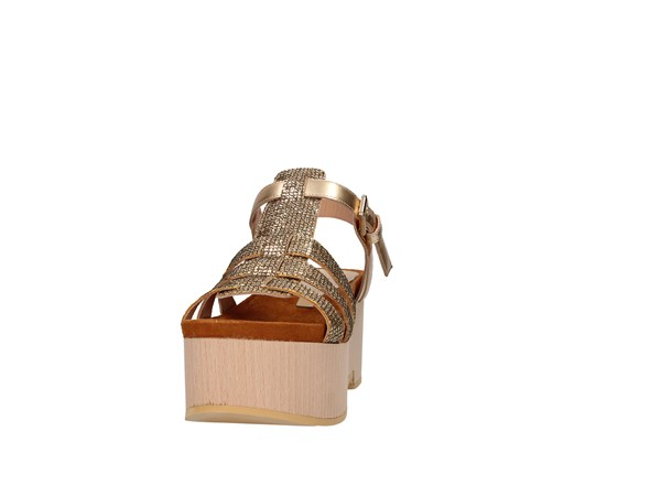 Emporio Di Parma 836 Gold Shoes Women Sandal