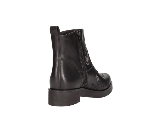 Scb8 I18h25ricamo Black Shoes Women Tronchetto