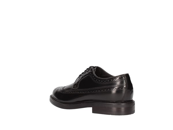 Soldini 13208-l-091 Black Shoes Man Francesina