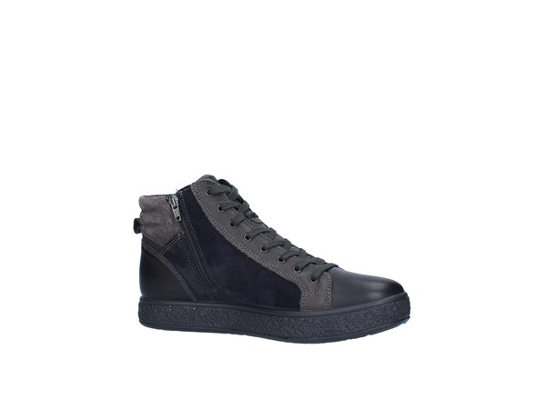 Igi&co 2131300 Black / Blue / Gray Shoes Man Sneakers