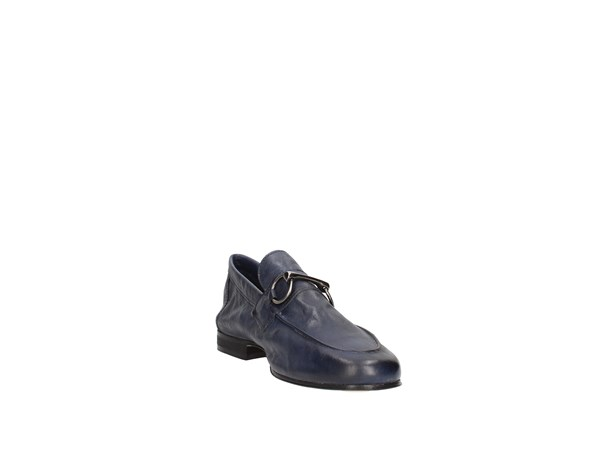 Soldini 20422-a-v07 Blue Shoes Man Moccasin