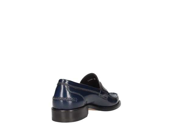 Soldini 14566-g-g04 Blue Shoes Man Moccasin