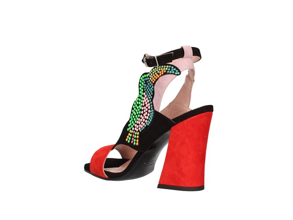 Marie Eloide Z05-9005 Red-black Shoes Women Sandal
