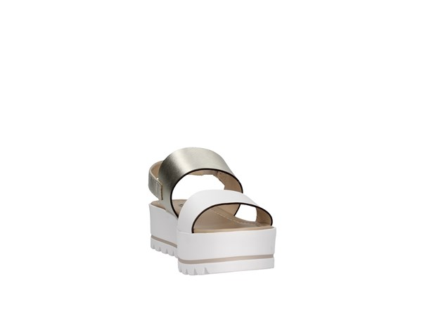 Nero Giardini P908323d White / platinum Shoes Women Sandal