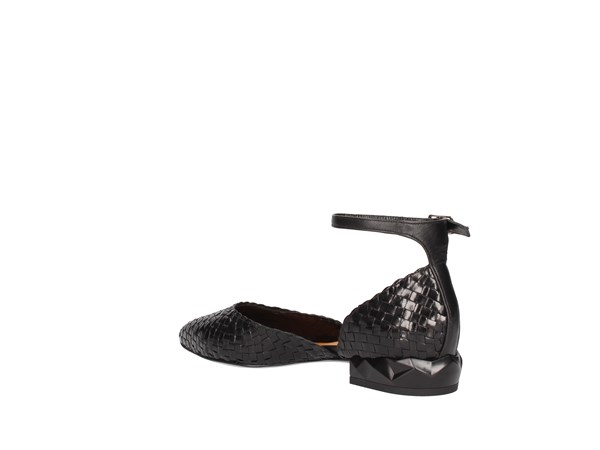 Silvia Rossini Marte Black Shoes Women Ballerina