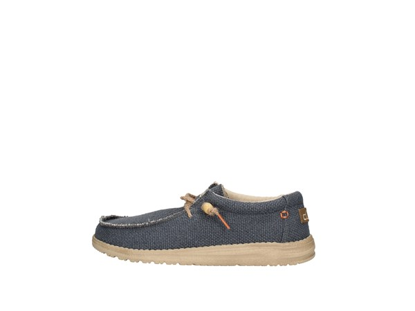 Dude Wally Braided Blue Shoes Man Sneakers