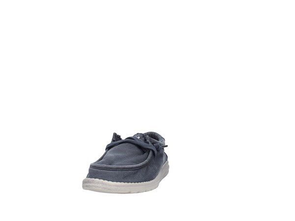 Dude Wally Washed Blue Shoes Man Sneakers