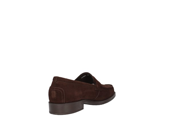 Soldini 17324-v-g90 Dark Brown Shoes Man Moccasin