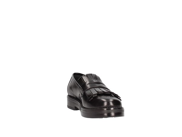 Paola Ferri D4791 Black Shoes Women Moccasin