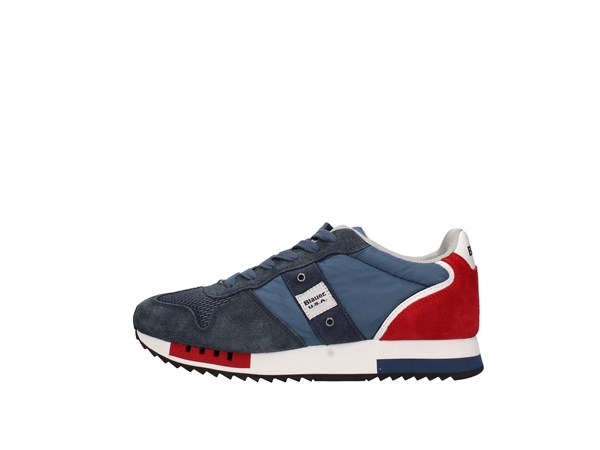 Blauer. U.s.a. S0queens01/sto Blue Jeans / red Shoes Man Sneakers