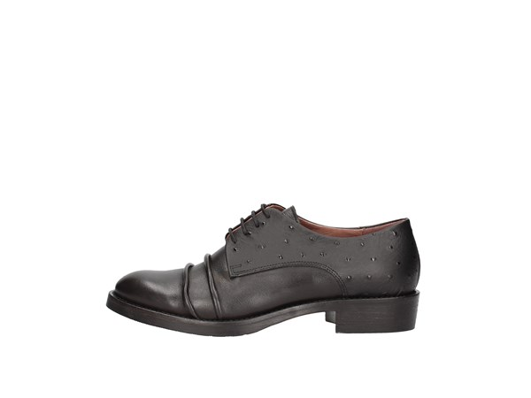 Le Bohémien K5-1 Black Shoes Women Francesina