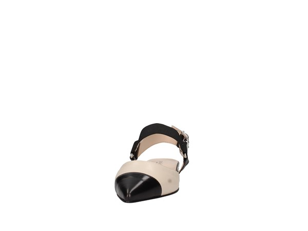 Nero Giardini E012042de Beige And Black Shoes Women Ballerina